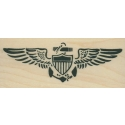 Pilot Wings Rubber Stamp